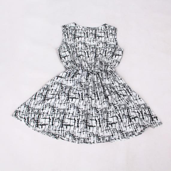 欧式女装个性几何印花时尚休闲连衣裙