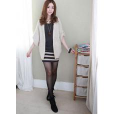 秋冬款條紋兩件套 | 連衣裙(深灰色) J-12178