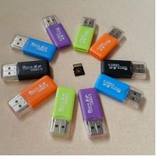 品名: 迷你讀卡器MicroSD/TF讀卡器TF讀卡器(顏色隨機) J-14732