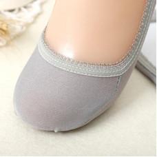 男女彩色糖果色棉質船襪(灰色) J-14674
