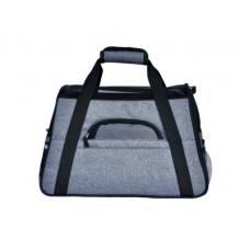 外出便攜式手提肩背寵物包透氣包亞麻料(亞麻灰) J-13389