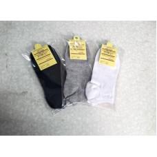韓國純色時尚純棉短襪女襪船襪(黑色) J-14118