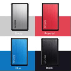 USB3.0鋁合金外接硬碟盒2.5吋SATA隨身碟外接硬碟盒SSD固態硬碟盒(黑色) J-14461