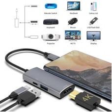 散裝_USB-C HUB多功能三合一集缐器手機switch任天堂投屏遊戲底座拓展塢HUB J-14704