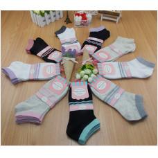 純棉女士商務襪子休閒隱形船襪(顏色隨機) J-13065