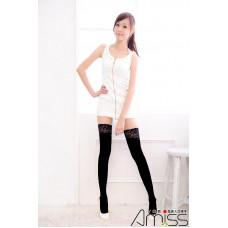 不透膚絲糅大腿襪(蕾絲款) J-11931