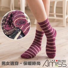 條紋-安格拉3/4毛襪 J-12476