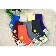 繽紛彩色素面氣墊毛巾襪舒柔全起毛(3-6歲) J-13714