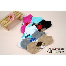 流行提花少女船襪(混款-款式隨機) J-12612