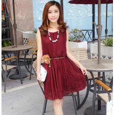 韓版甜美時尚圓擺連衣裙 FD87 J-12622