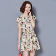 新款連衣裙(藍色) J-12363