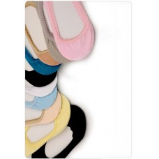 男女彩色糖果色棉質船襪(黃色) J-12482