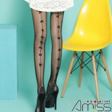 日本雜誌款-針織網襪-背線蝴蝶結 J-11879