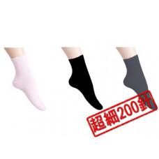 MIT透氣~細200針純棉休閒襪(黑色) J-11852