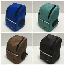 品名: 牛津布雙肩背包寵物背包貓狗兔背包後背包(淺咖啡色) J-13988 全新 G-1623