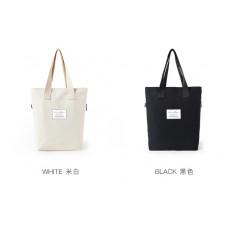 品名: 韓版簡約單肩包文藝大包大容量學生帆布包手提包(黑色) J-13409品名: 韓版簡約單肩包文藝大包大容量學生帆布包手提包(黑色) J-13409
