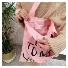 品名: 韓國簡約百搭環保購物小清新帆布袋單肩包에코벡(字母粉色) J-13719 G-1298