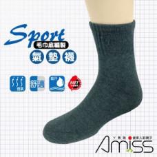 品名: 1/2毛巾運動氣墊襪(白色) J-13729 G-1041