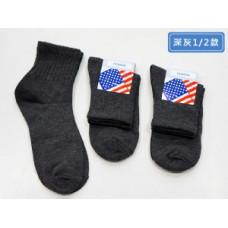 品名: 1/2平價休閒襪-深灰(素面) J-12721品名: 1/2平價休閒襪-深灰(素面) J-12721