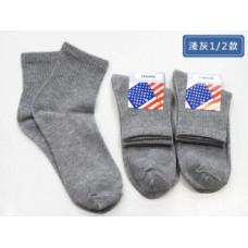 品名: 1/2平價休閒襪-淺灰(全素面) J-12720品名: 1/2平價休閒襪-淺灰(全素面) J-12720
