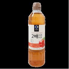 清淨園2倍濃厚蘋果醋청정원 2배 사과식초900ML 全新 G-6267
